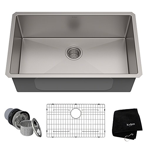 Kraus KHU100-30 Commercial kitchen sinks, Stainless Steel