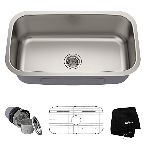 Kraus KBU14 Single Bowl Stainless Steel Commercial kitchen sinks