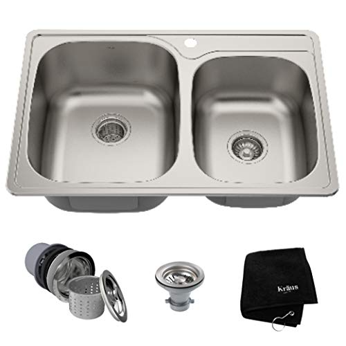 Kraus KTM32 Double Bowl Stainless Steel Commercial kitchen sinks