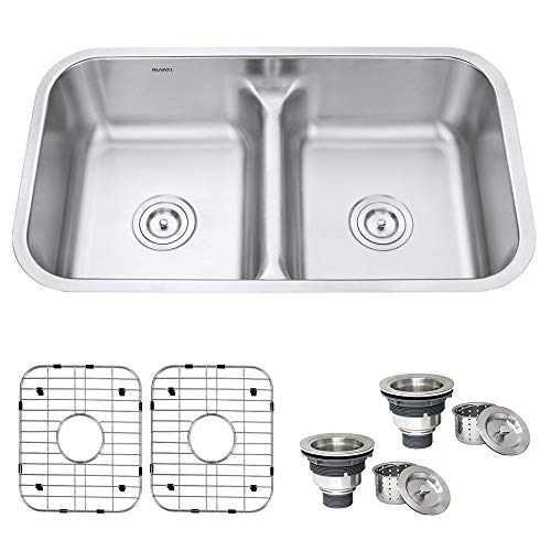 Ruvati Double Bowl Undermount Stainless Steel Commercial kitchen sinks