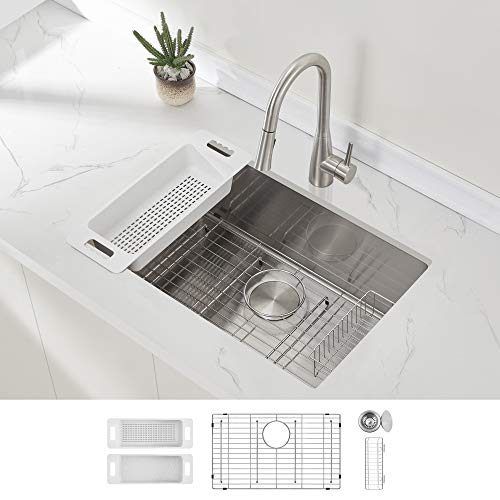 Zuhne Modena Single Bowl Handmade Stainless Steel Commercial kitchen sinks