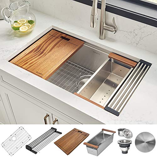 Ruvati Workstation Stainless Steel Commercial kitchen sinks