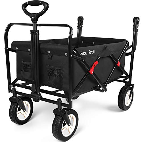 Folding Push Wagon Cart Collapsible Utility